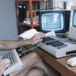 writing on a commodore 64